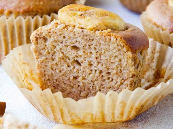 Banana Almond Muffins